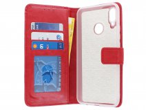 Bookcase Wallet Rood - Huawei P Smart+ hoesje