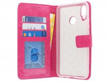 Bookcase Wallet Roze - Huawei P Smart+ hoesje