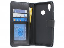 Bookcase Wallet Zwart - Huawei P Smart+ hoesje