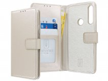 Book Case Wallet Mapje Goud - Huawei P Smart Z hoesje
