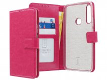 Book Case Wallet Mapje Roze - Huawei P Smart Z hoesje