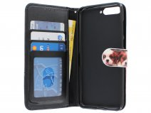 Puppy Dog Bookcase Wallet - Huawei Y6 2018 hoesje