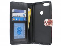 Puppy Dog Bookcase Wallet - Huawei Y7 2018 hoesje
