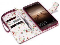 CaseBoutique Flower Bookcase - Huawei Mate 9 hoesje