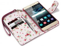 Huawei Mate S hoesje - CaseBoutique Flower Wallet Case