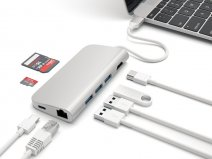Satechi USB-C Passthrough USB Hub met HDMI Ethernet SD