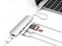 Satechi USB-C Slim Multi-Port Adapter V2 - Zilver