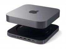 Satechi Aluminium Mac Mini Stand & USB-C Hub - Space Grey