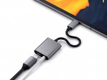 Satechi Aluminium USB-C naar 3,5mm Audio Adapter - Space Grey