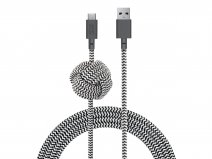 Native Union Night Cable Zebra - Verzwaarde USB-C kabel