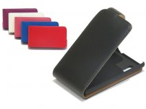 Classic Leather Flip Case voor LG Optimus L5 (E610)