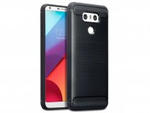 Rugged Carbon TPU Case - LG G6 hoesje