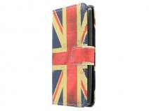 Vintage GB Flag Book Case Hoesje voor LG L Fino