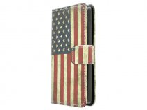 Vintage USA Flag Book Case Hoesje voor LG L Fino
