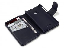 CaseBoutique Leather Wallet Case - Hoesje voor Microsoft Lumia 435