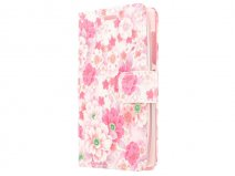 Floral Book Case Hoesje voor Microsoft Lumia 435