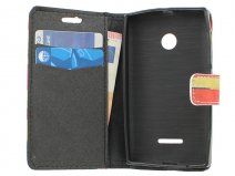 Vintage GB Flag Book Case Hoesje voor Microsoft Lumia 435
