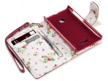 CaseBoutique Flower Wallet Case - Microsoft Lumia 435 hoesje