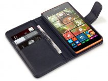 Terrapin Leather Wallet Case - Hoesje voor Microsoft Lumia 535
