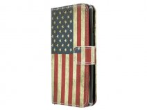 Vintage USA Flag Book Case - Microsoft Lumia 550 hoesje