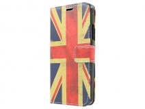 Vintage GB Flag Book Case Hoesje voor Microsoft Lumia 640