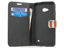 Vintage USA Flag Book Case Hoesje voor Microsoft Lumia 640