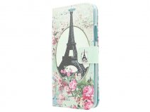 Retro Paris Book Case Hoesje voor Microsoft Lumia 640