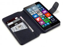 Terrapin Leather Wallet Case - Hoesje voor Microsoft Lumia 640 XL