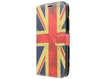 Vintage GB Flag Book Case Hoesje voor Microsoft Lumia 640 XL