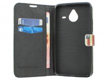 Vintage USA Flag Book Case Hoesje voor Microsoft Lumia 640 XL