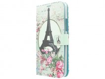 Retro Paris Book Case Hoesje voor Microsoft Lumia 640 XL