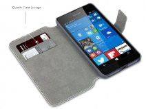 Covert Ultralim Book Case - Microsoft Lumia 650 hoesje