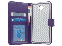 Wallet Bookcase - Microsoft Lumia 650 hoesje (Paars)