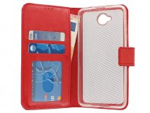 Wallet Bookcase - Microsoft Lumia 650 hoesje (Rood)