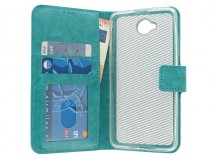 Wallet Bookcase Turquoise - Microsoft Lumia 650 hoesje