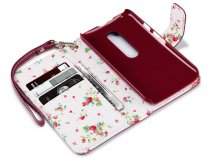 CaseBoutique Flower Wallet Case - Motorola Moto G3 hoesje