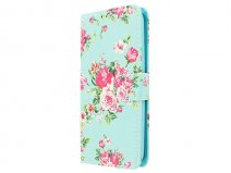 Flower Bookcase - Motorola Moto G4 Play hoesje