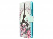 Retro Paris Bookcase Wallet - Motorola Moto G5 hoesje