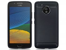 Rugged Carbon TPU Case - Motorola Moto G5 hoesje