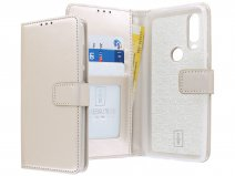 Book Case Mapje Goud - Motorola One Action hoesje