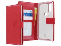 Book Case Mapje Rood - Motorola One Action hoesje