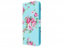 Flower Bookcase Wallet - Motorola Moto G6 Plus hoesje