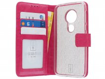 Book Case Wallet Roze - Motorola Moto G7 Play hoesje