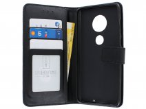 Book Case Wallet Zwart - Motorola Moto G7 Plus hoesje