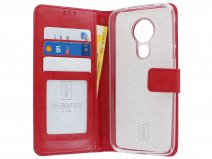 Book Case Wallet Rood - Motorola Moto G7 Power hoesje
