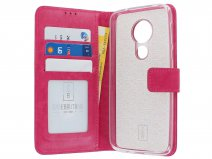 Book Case Wallet Roze - Motorola Moto G7 Power hoesje