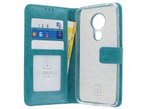Book Case Wallet Turquoise - Motorola Moto G7 Power hoesje