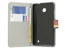 Nokia Lumia 630/635 Wallet Case Hoesje - Vintage UK Flag