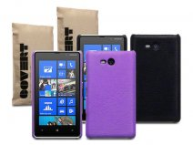 Covert Leather-look Back Case Hoesje voor Nokia Lumia 820