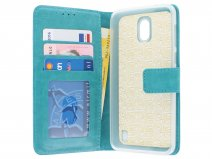 Bookcase Wallet Turquoise - Nokia 2 hoesje